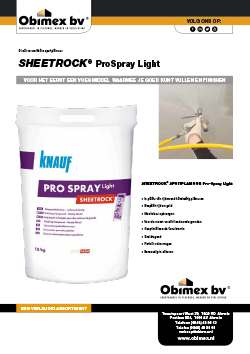 Obimex Sheetrock ProSpray light