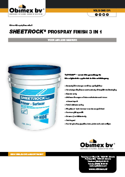 Obimex Sheetrock Prospray finish 3 in 1