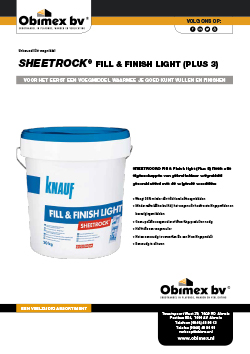 Obimex Sheetrock fill & finish light (plus3)