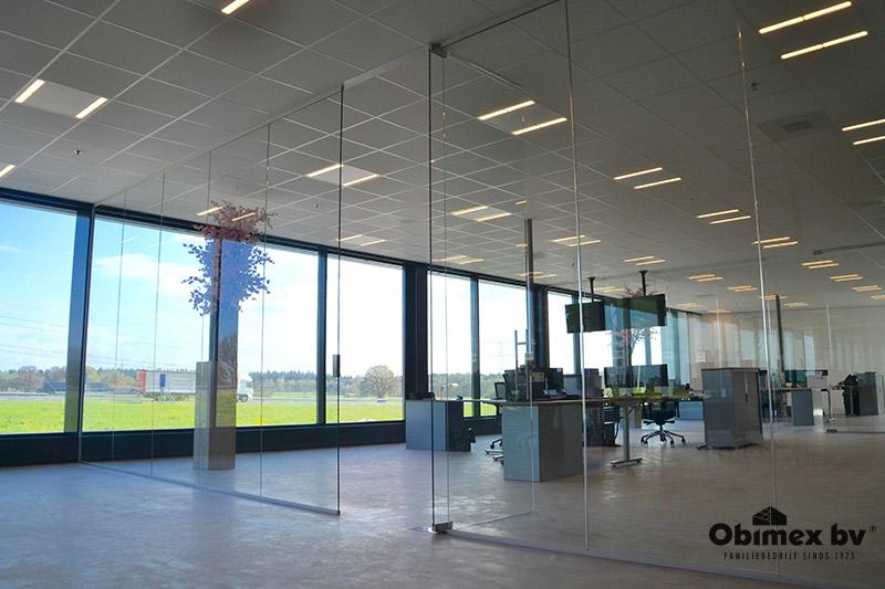 Obimex glaswand