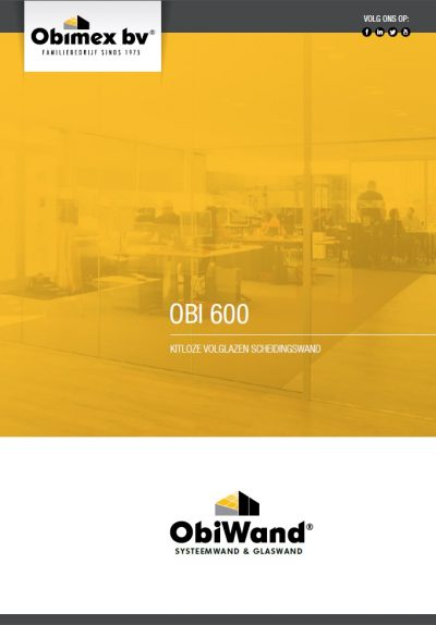 Brochure glaswand