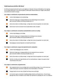 Onderhoudsvoorschriften CE