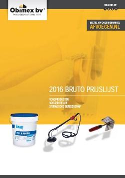 Obimex prijslijst 2016 voegproducten